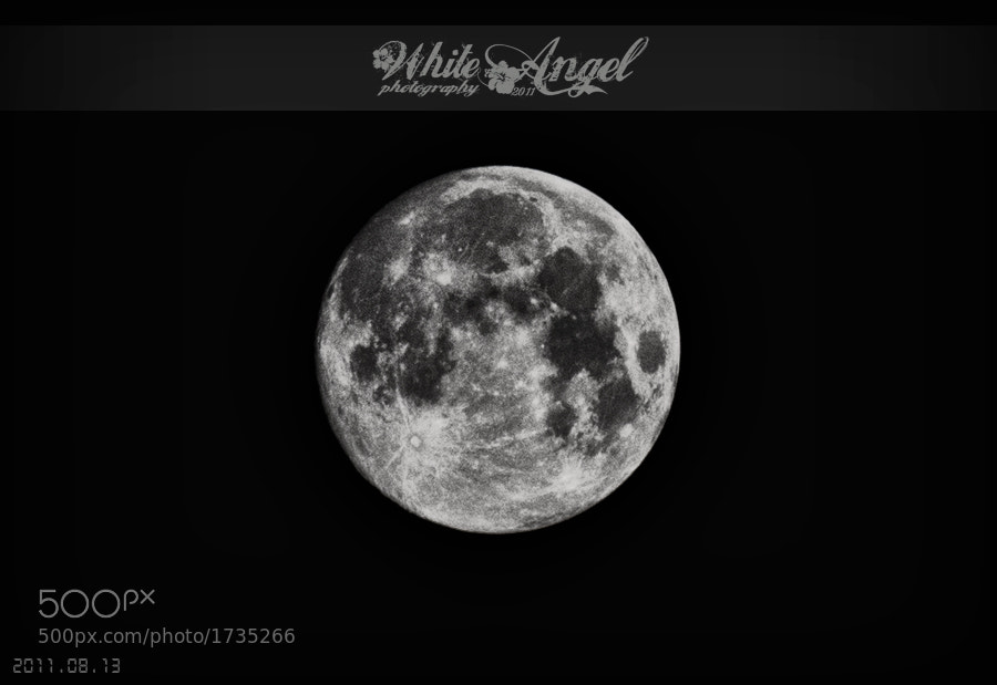 Photograph The Moon by WHITE ANGEL on 500px