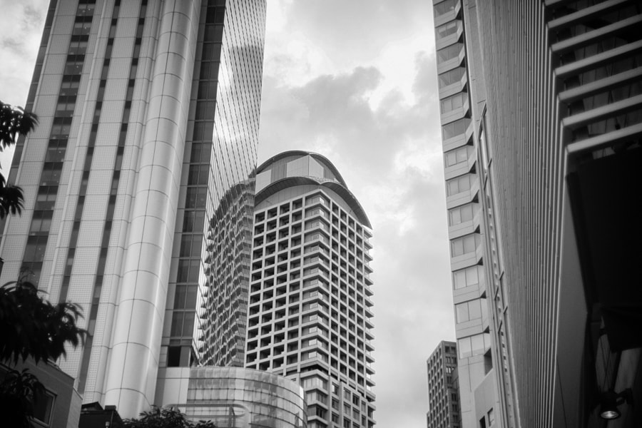 Buildings with reflection by Hiro _R on 500px.com