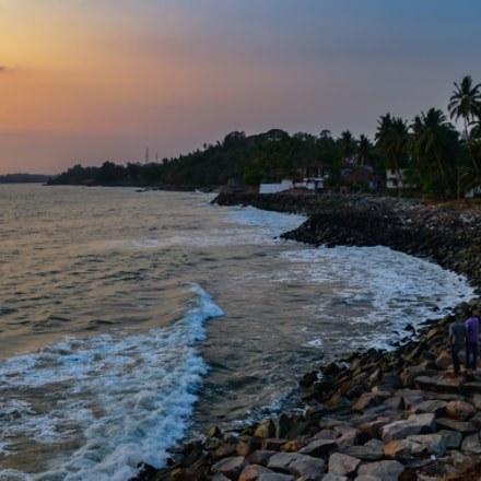 A view from Overbury's Folly , Thalassery , Kerala