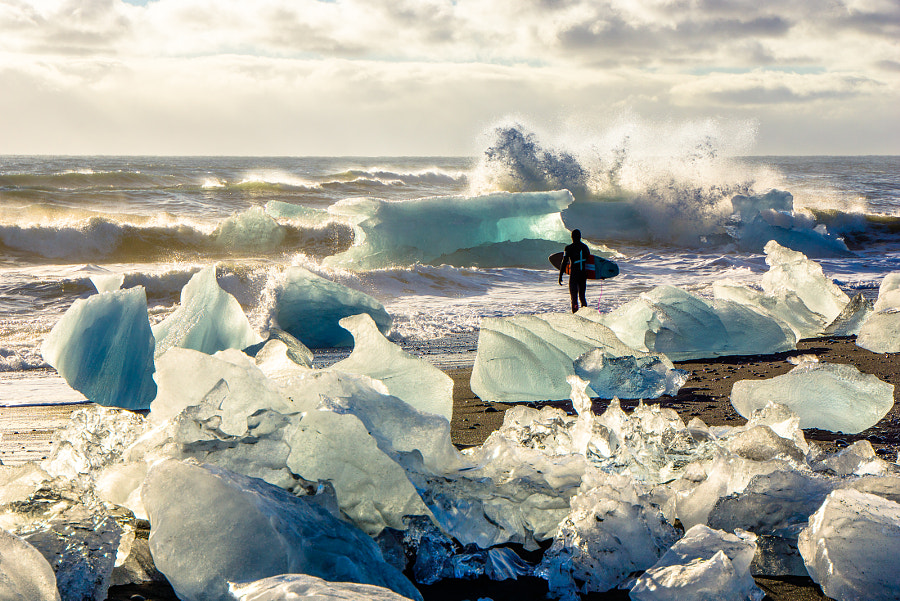 Arctic Surf under the Icelandic Sun by Chris Burkard on 500px.com