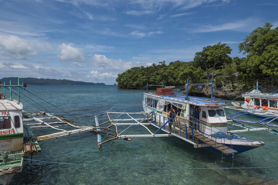 Boat transport in Boracay