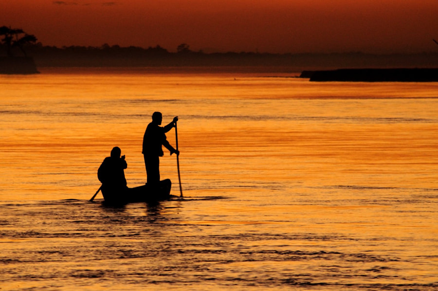River crossing at sunset by Pralay Lahiry on 500px.com
