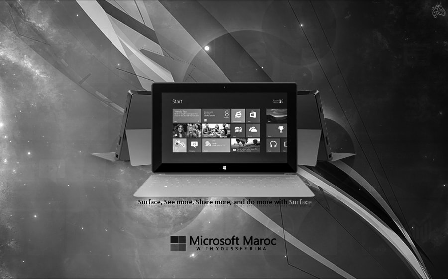Photograph Microsoft Tablette l S U R F A C E - B&W by Youssef Rina on 500px
