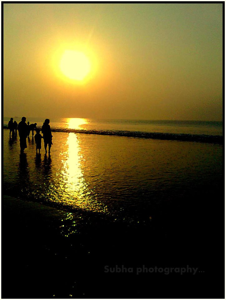 Photograph sunset in seashore  by SUBHA   on 500px