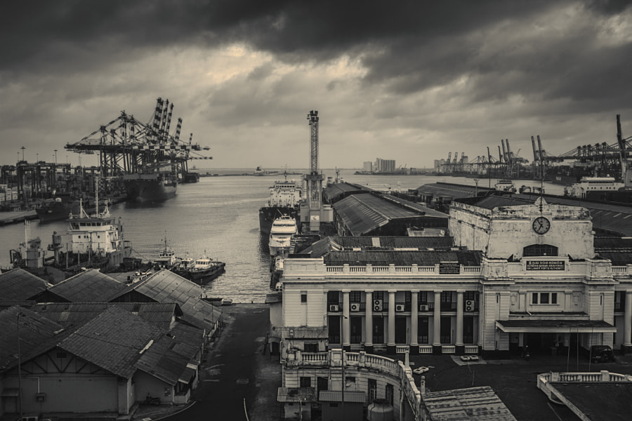 Colombo Port in the Morning (B/W) by Son of the Morning Light on 500px.com