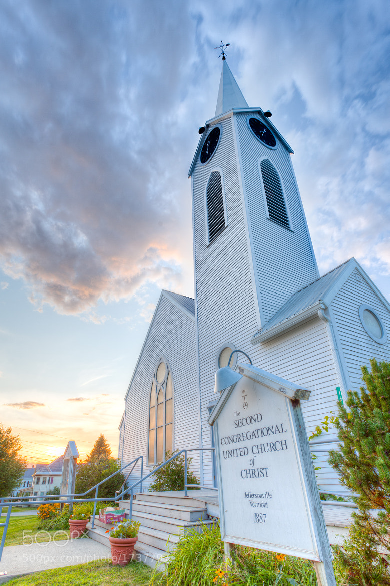 Photograph Second Congregational Church, Jeffersonville, Vermont. by Stanton Champion on 500px