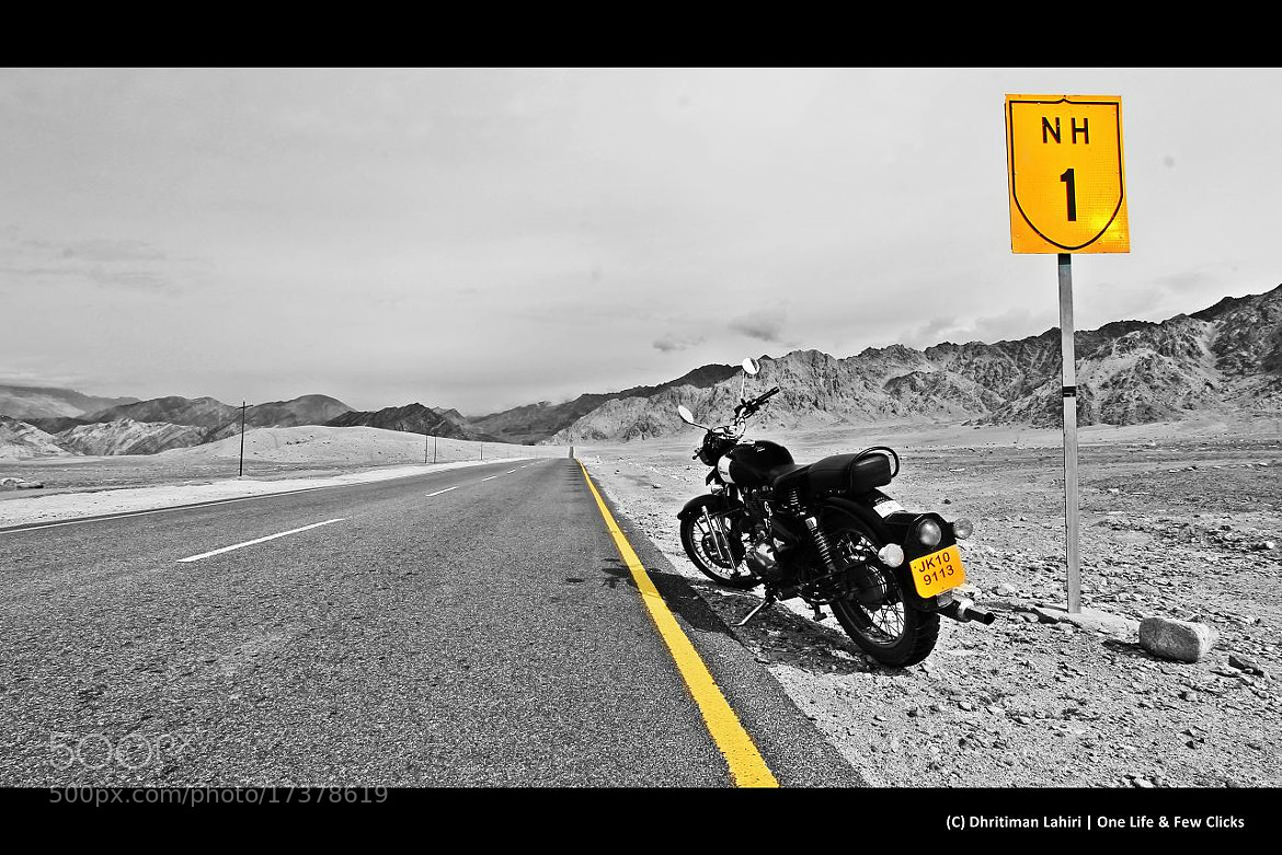 Photograph RE Bullet on NH1 by Dhritiman Lahiri on 500px