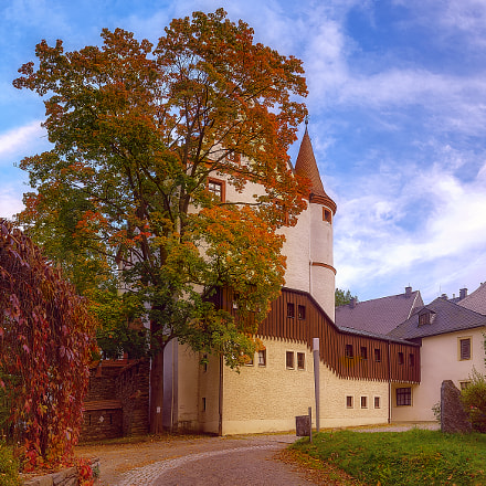 Castle Schlettau, Ore Mountains, Sony SLT-A77V, Tamron SP AF 17-50mm F2.8 XR Di II LD Aspherical
