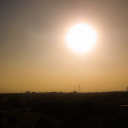 Sunset over the City, Canon POWERSHOT A1200