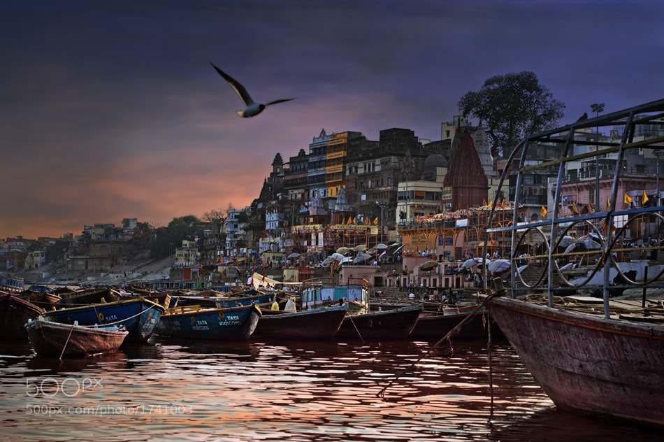 Photograph the boats of Varanasi by piet flour on 500px