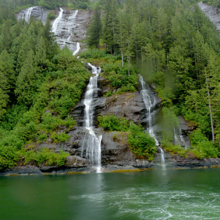 Misty Fjords Waterfalls BC, Panasonic DMC-FZ35