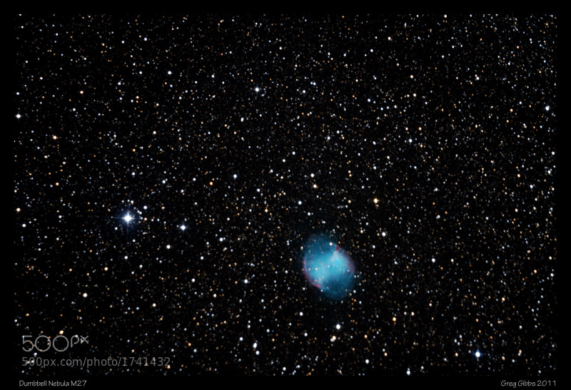 Photograph Dumbbell Nebula by Greg Gibbs on 500px