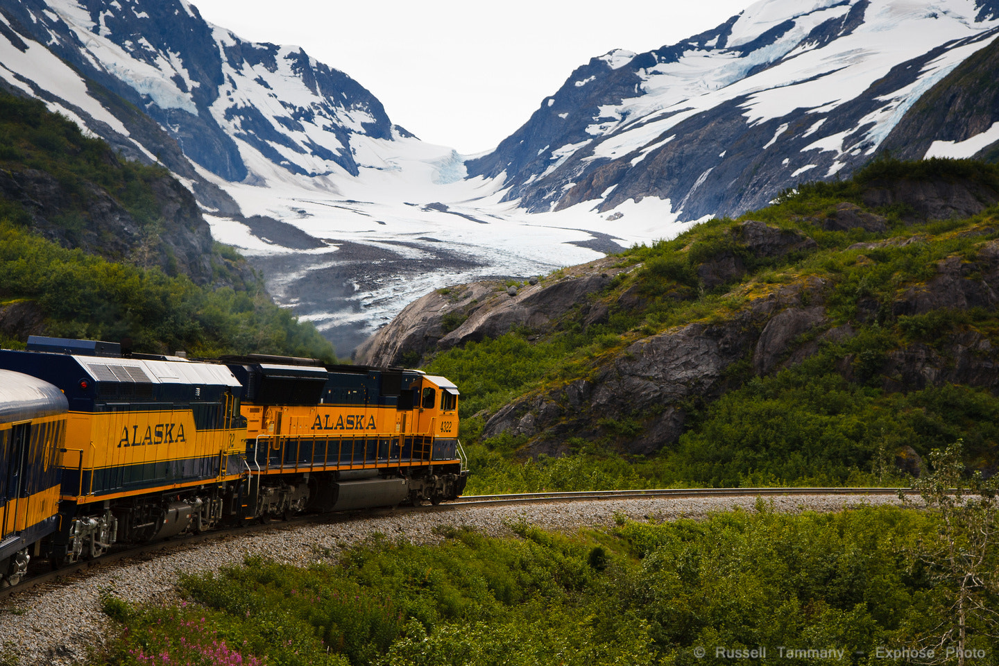 Photograph Alaska Railroad Glacier by Russell Tammany on 500px