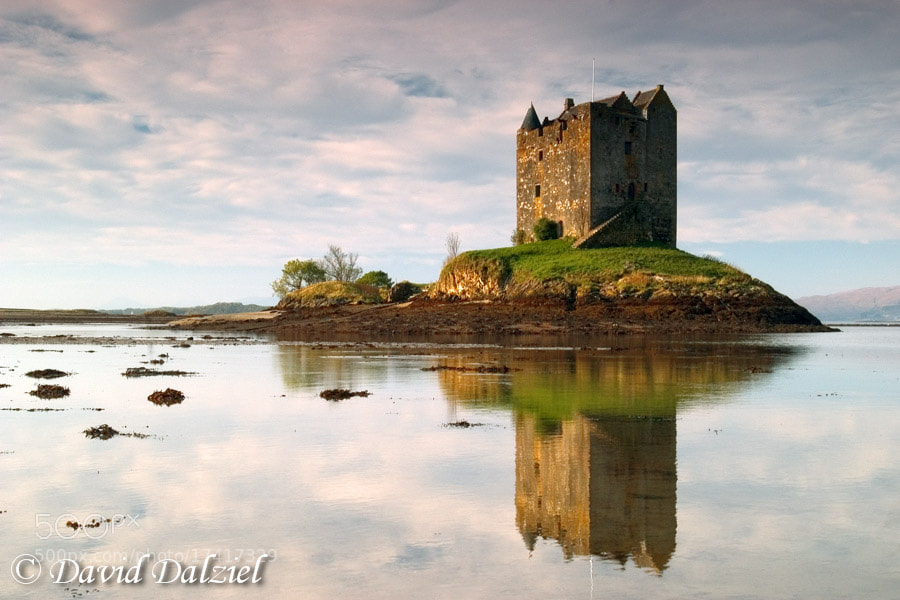 Photograph Castle Stalker Reflected by David Dalziel on 500px