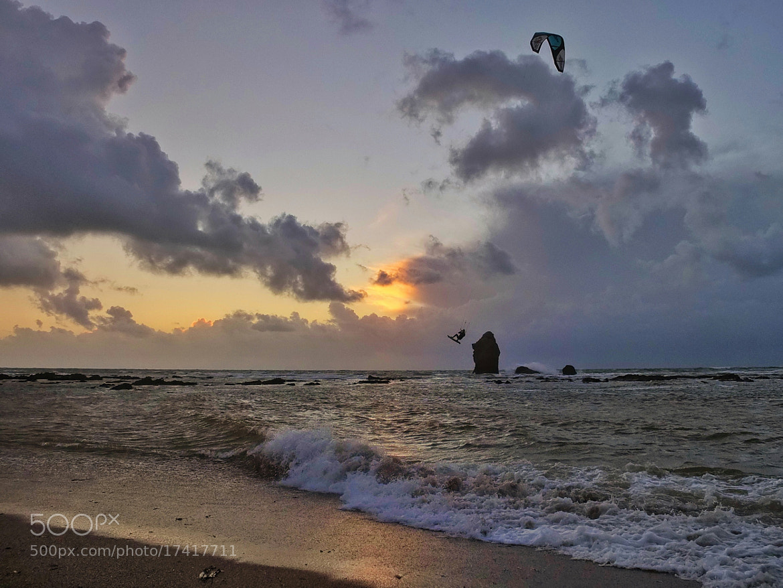 Photograph Kite surfer, early evening. by Ian Bradburn on 500px