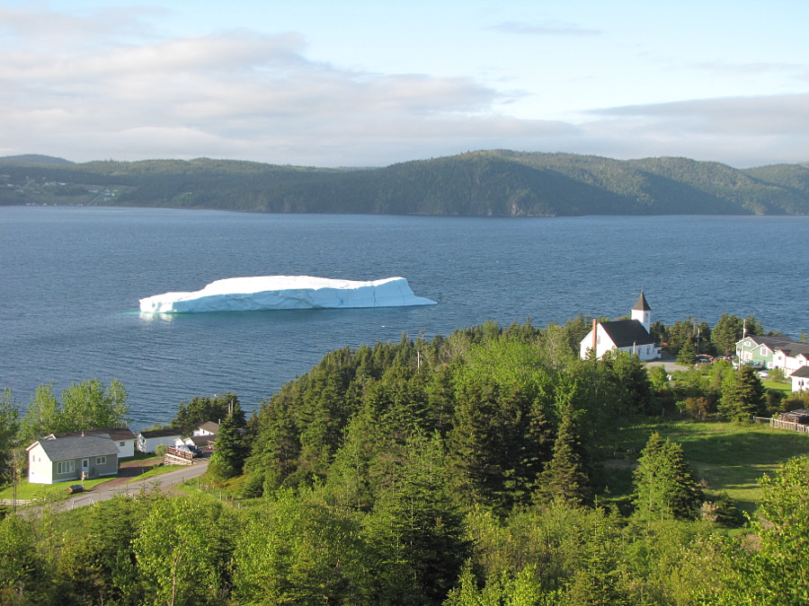 photos of an iceberg that floated around Smith Sound, Random Island during the summer of 2012.