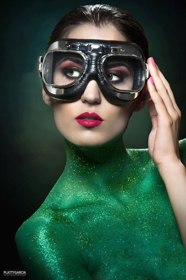 Photograph Green Aviator Girl by Noemi Fernández on 500px