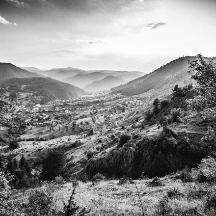 Rhodope mountains Bulgaria BW
