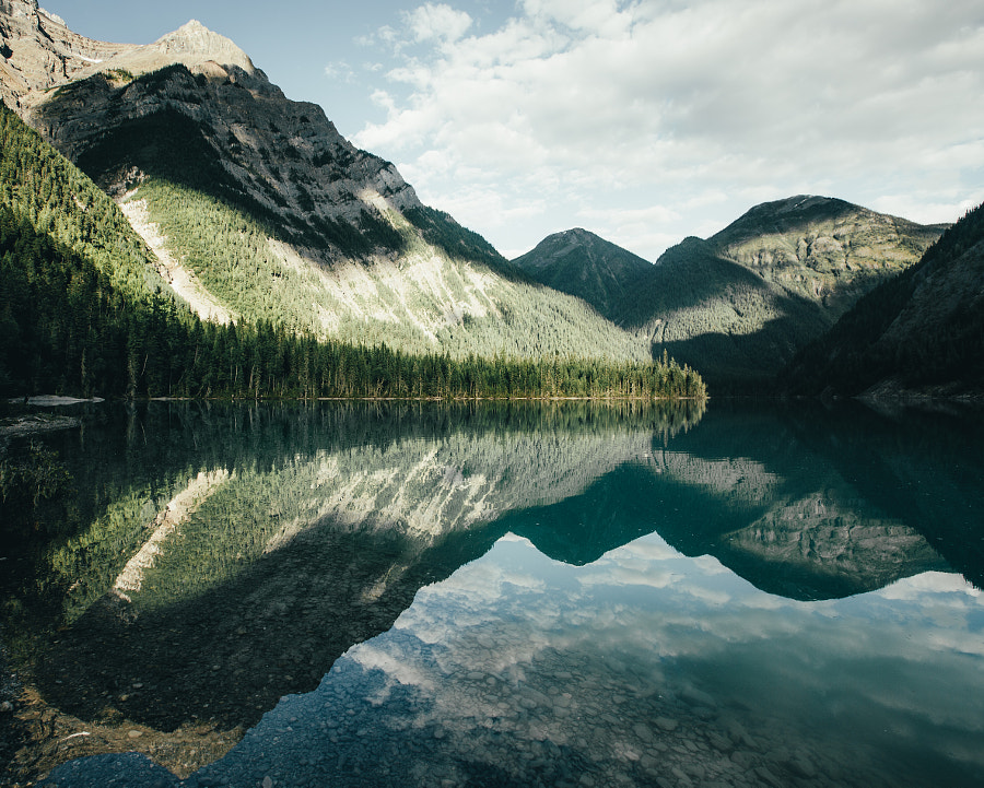Morning Shadows On Kinney Lake by Dylan Furst