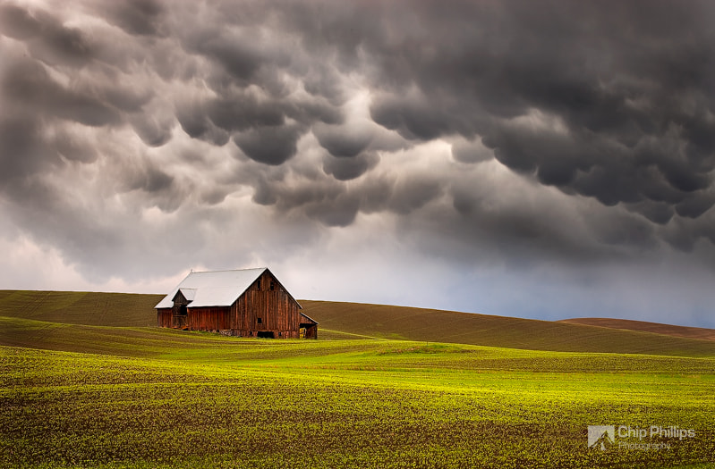 Photograph Mammatus Clouds and Barn Palouse by Chip Phillips on 500px