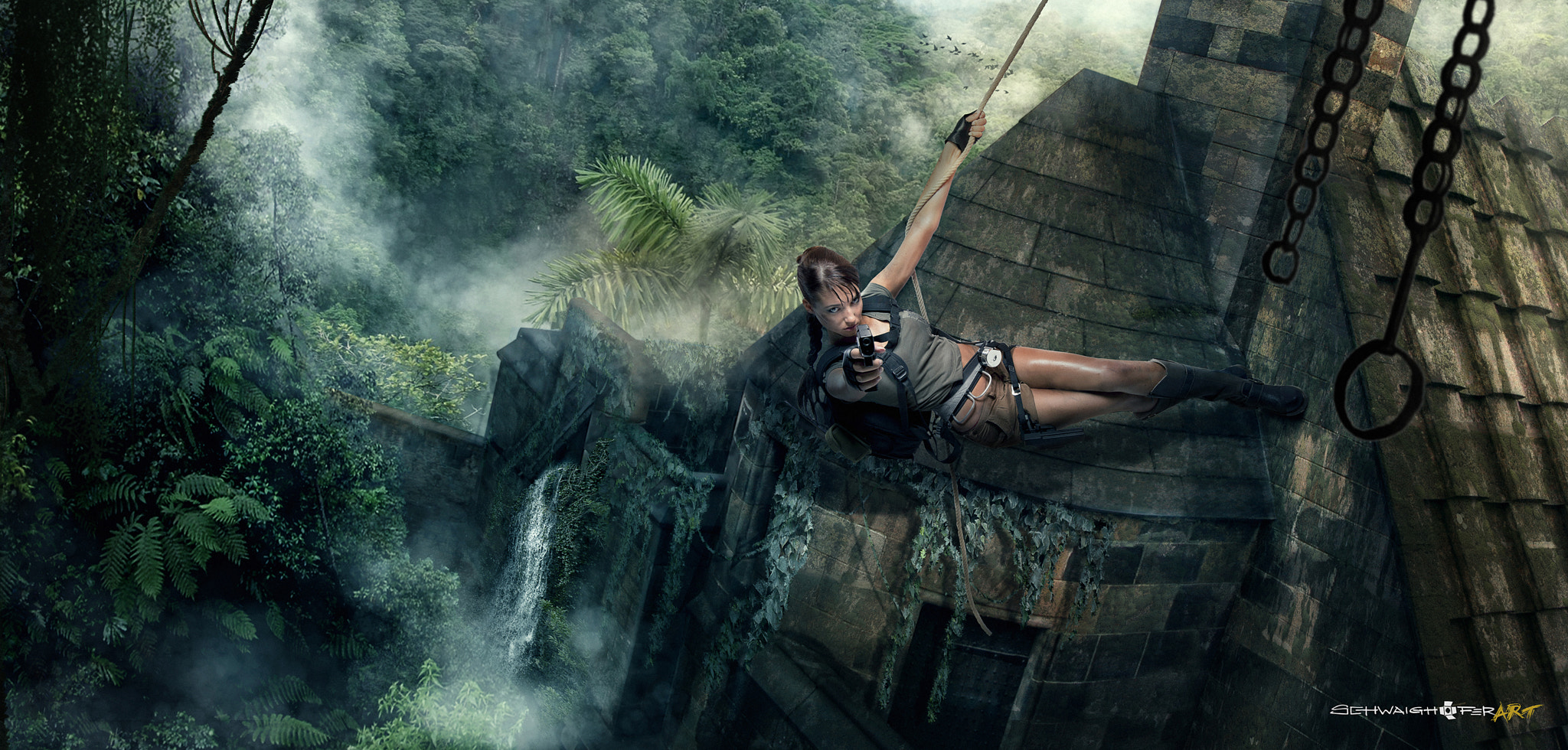 Photograph Lara Croft by Matthias Schwaighofer on 500px