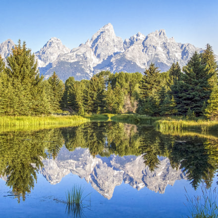 Mountain Reflection at Schwabacher, Fujifilm FinePix S9000