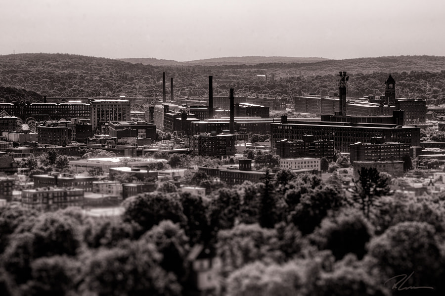 A view of Lawrence, Massachusetts from the city's High Service Water Tower.