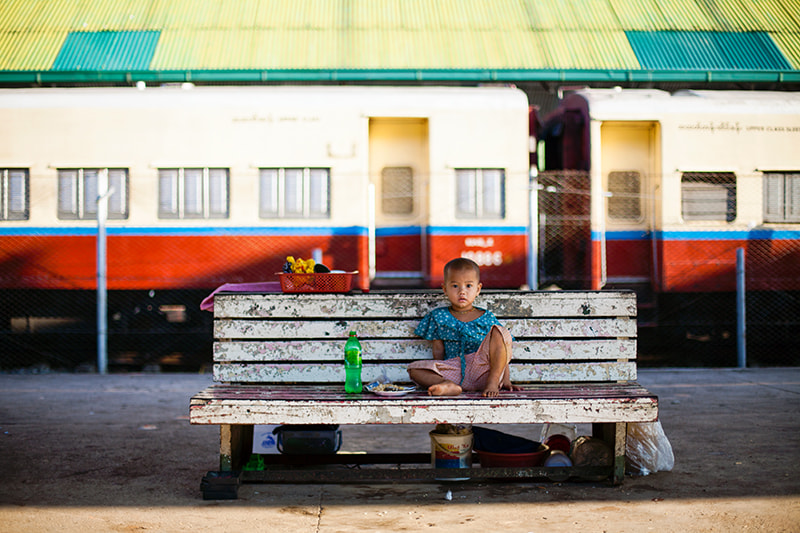 Photograph Yangon train station by Etienne Bossot on 500px