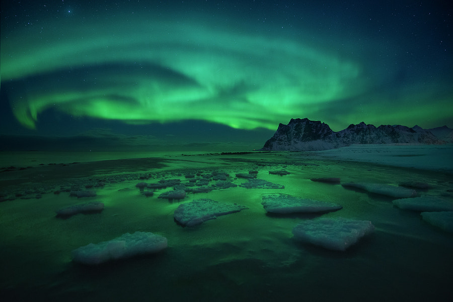 Ice on the Beach by Arild Heitmann on 500px.com
