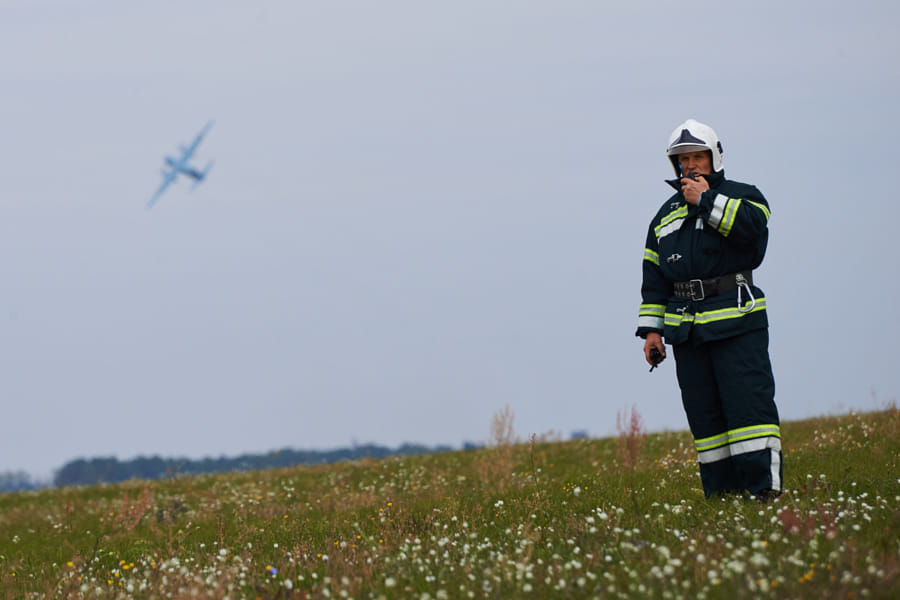 Ukrainian rescue exercise in Kyiv\'s airport