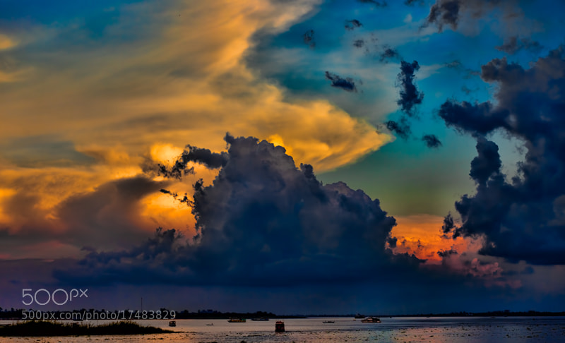 Photograph Mekong Sunset by Michel Latendresse on 500px