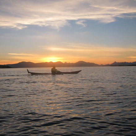 Kayaking in the sunset. , Canon POWERSHOT A490