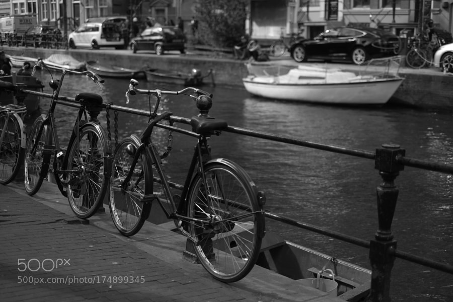 Bike at canal in Amsterdam 37