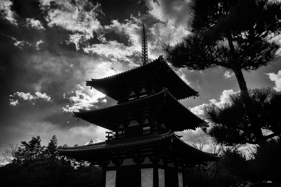 Monochrome Horinji-temple by Hiro _R on 500px.com