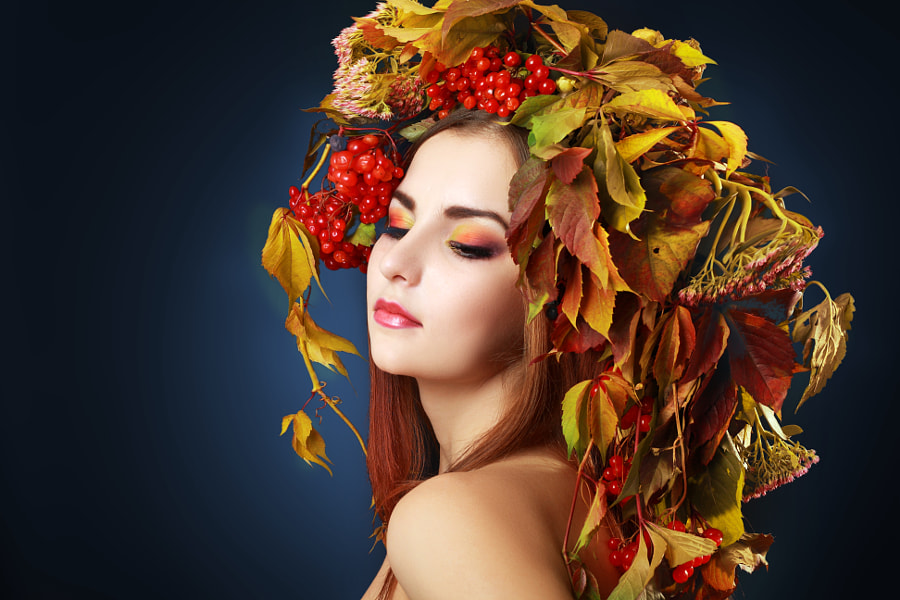 Autumn Woman by Olena Zaskochenko on 500px