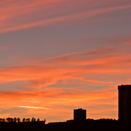 Sunset on the city, Canon EOS 1000D