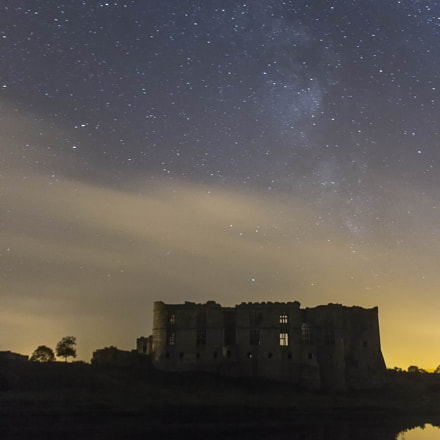 milkyway over the castle, Canon EOS 1200D, Sigma 18-50mm f/2.8-4.5 DC OS HSM