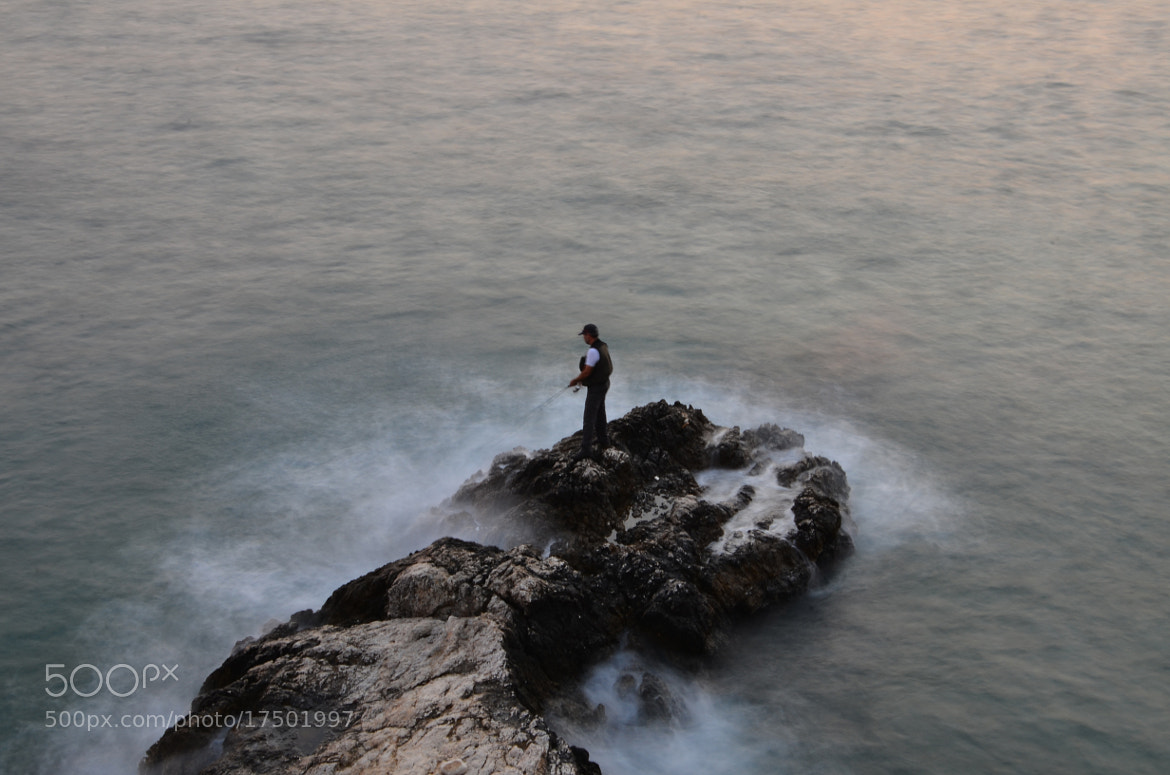 Photograph The man fishing in the waves.... by muhammet özcan on 500px