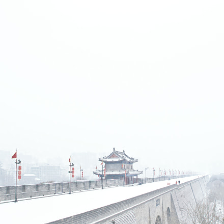Snowing in Xi'an City, Nikon D800E, Sigma 24mm F1.8 EX DG Aspherical Macro