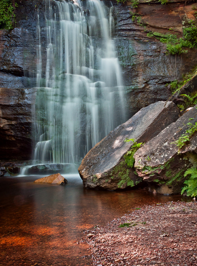 Waterfall outside of Hubbell, Michigan, USA