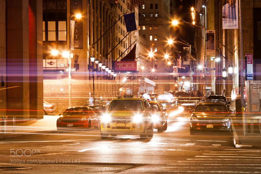 A night in the financial district
