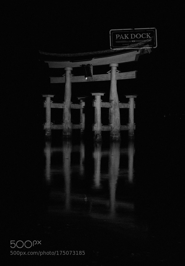 The Great Torii at Night  - Miyajima
