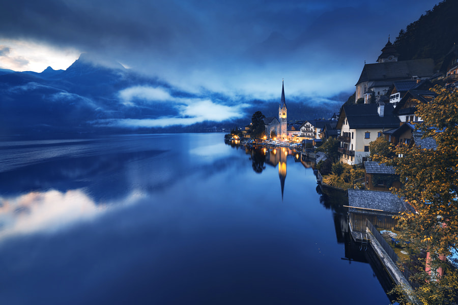 Gold'n blue Hallstatt by Adnan Bubalo