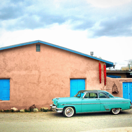 Taos Blue Car, Canon POWERSHOT A40