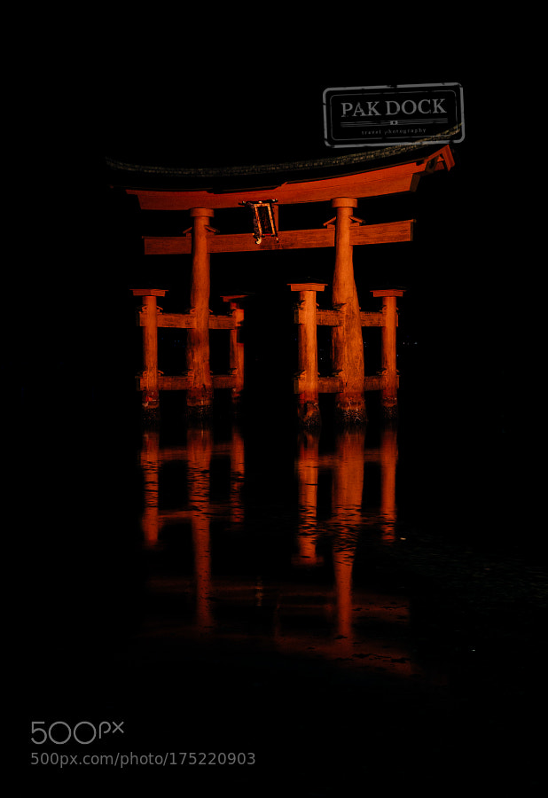 The Great Torii at Night, Miyajima