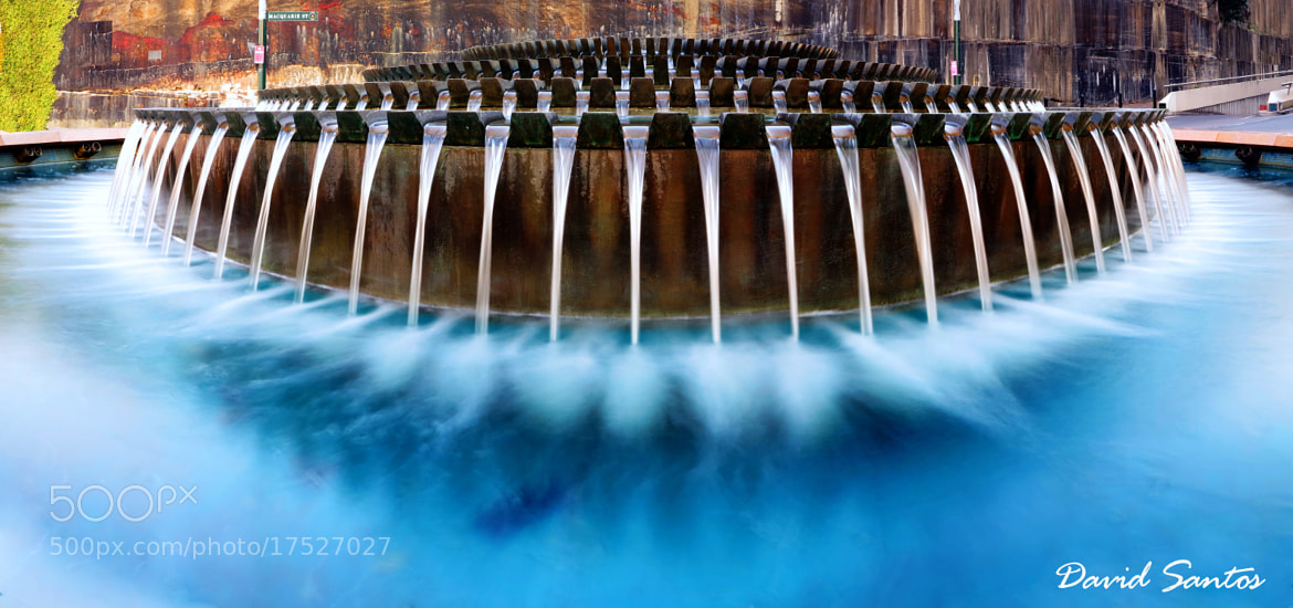 Photograph blue Fontaine by David Santos on 500px
