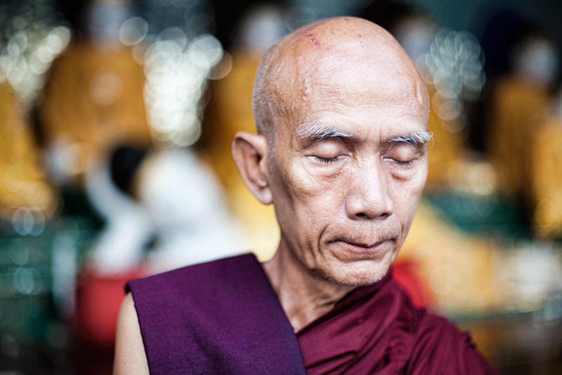 Photograph Meditating monk by Etienne Bossot on 500px