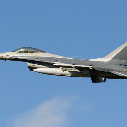 Belgian Air Force F-16AM, Canon EOS 20D, Canon EF 70-200mm f/2.8 L + 1.4x