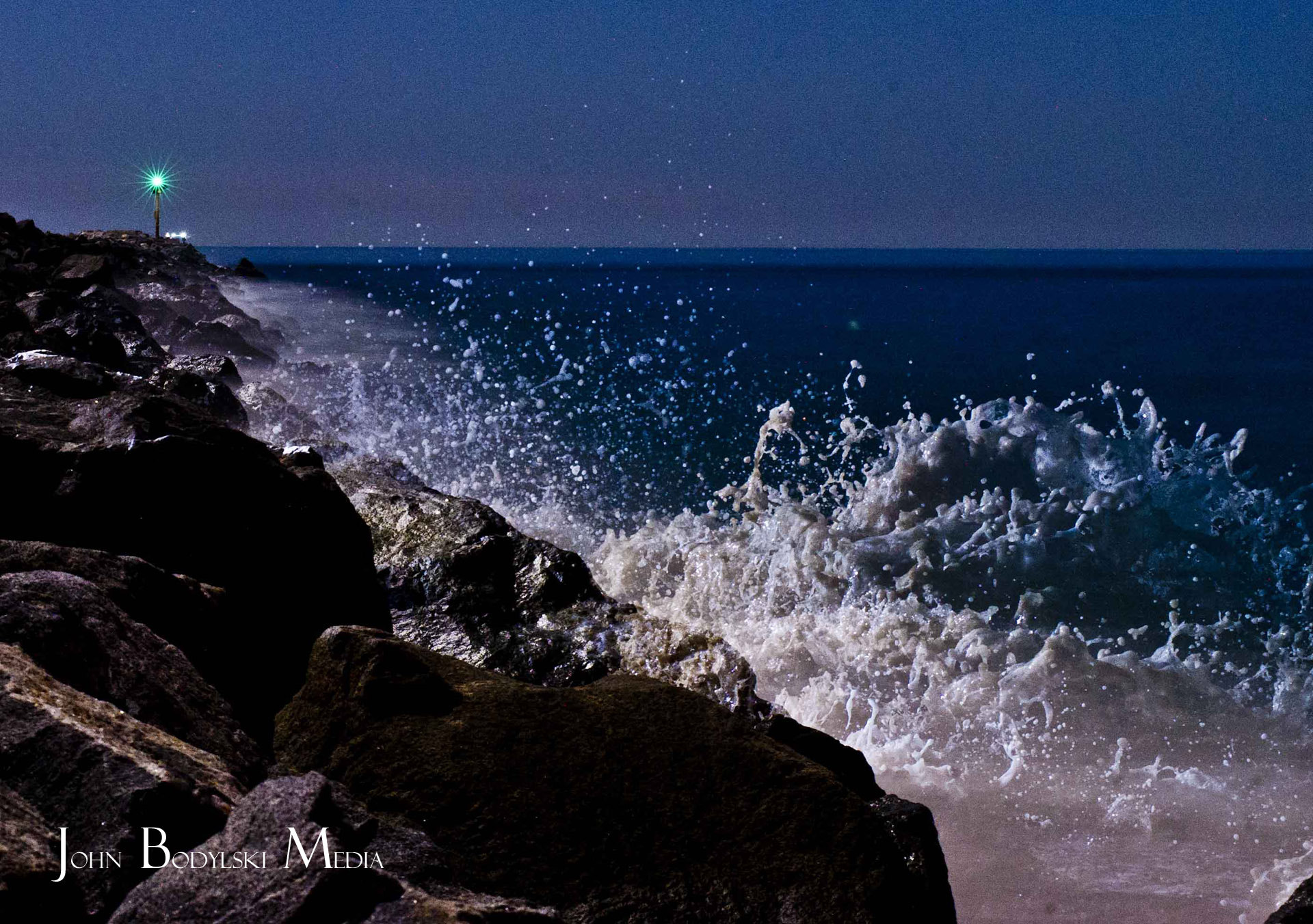 Photograph Waves in the Night by Johnny Bodylski on 500px