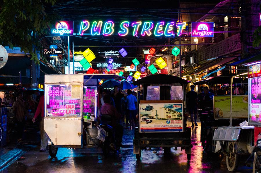 Pub Street, Siem Reap by Amanda Chow on 500px.com